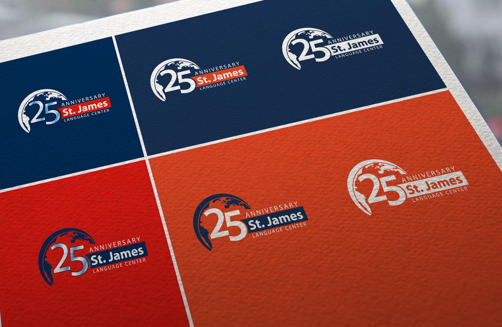 St James 25 anniversary - Logotipos negativos