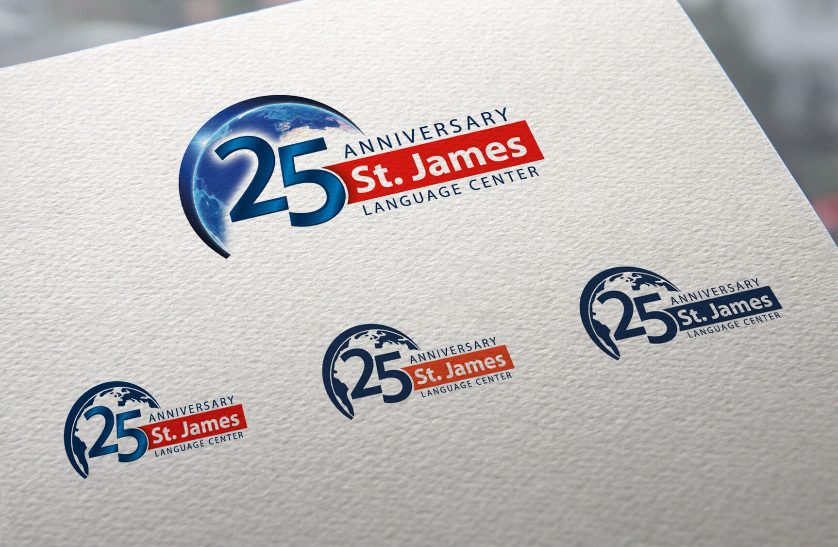 St James 25 anniversary - Logotipos