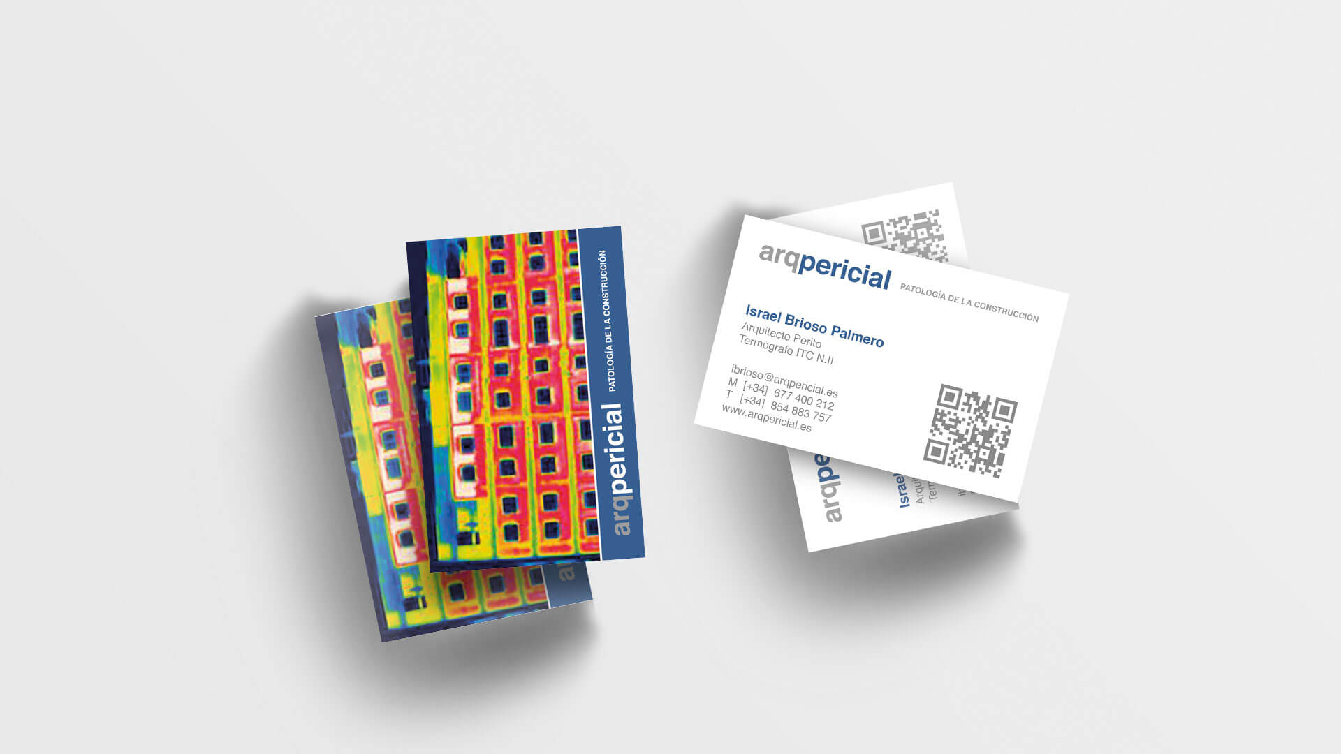 Diseño e impresión de tarjeta de visita para Arqpericial