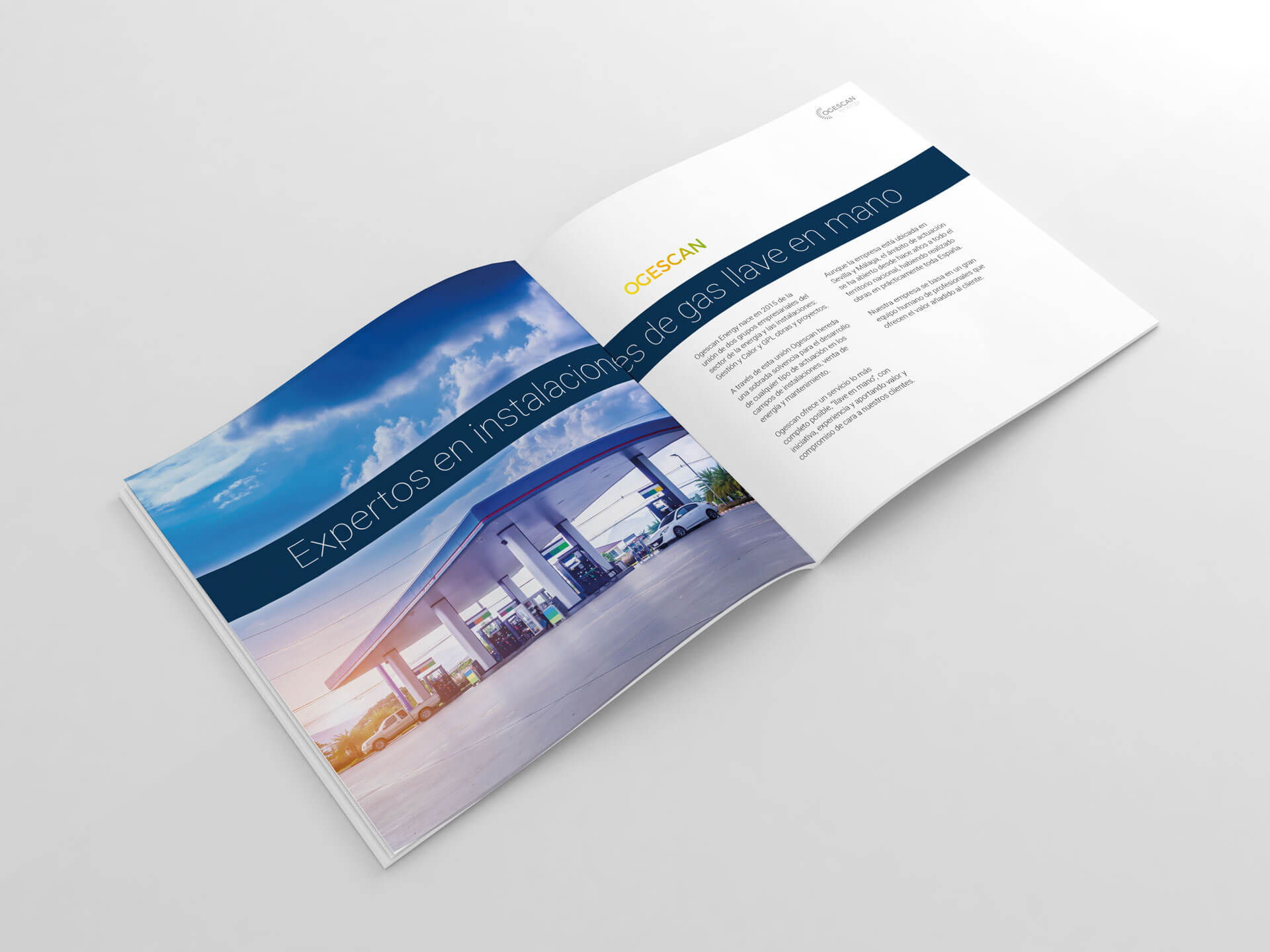 Diseño de dossier para Ogescan Energy