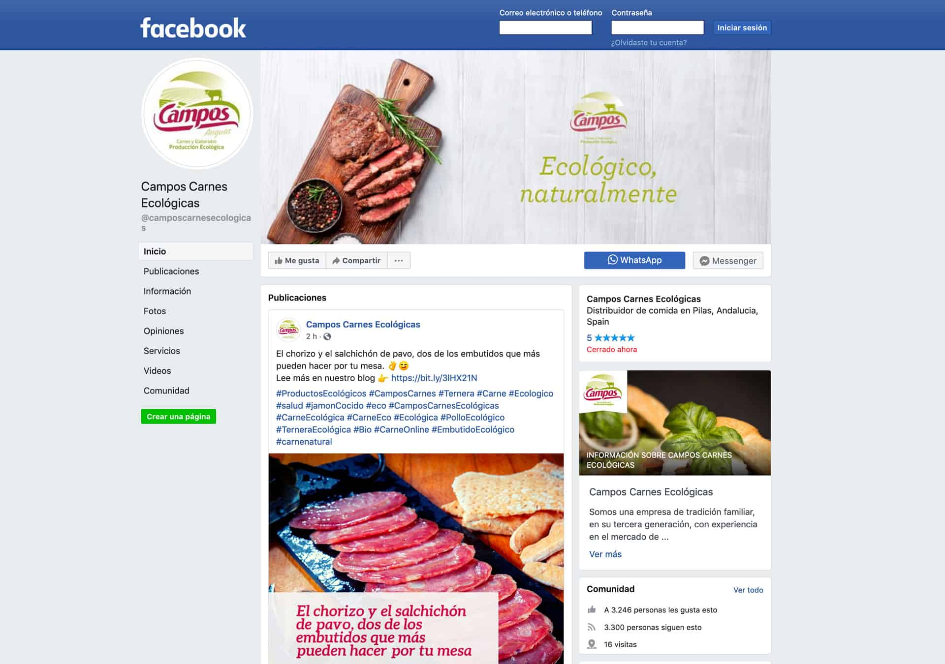 Campaña google Ads y redes sociales Campos Carnes