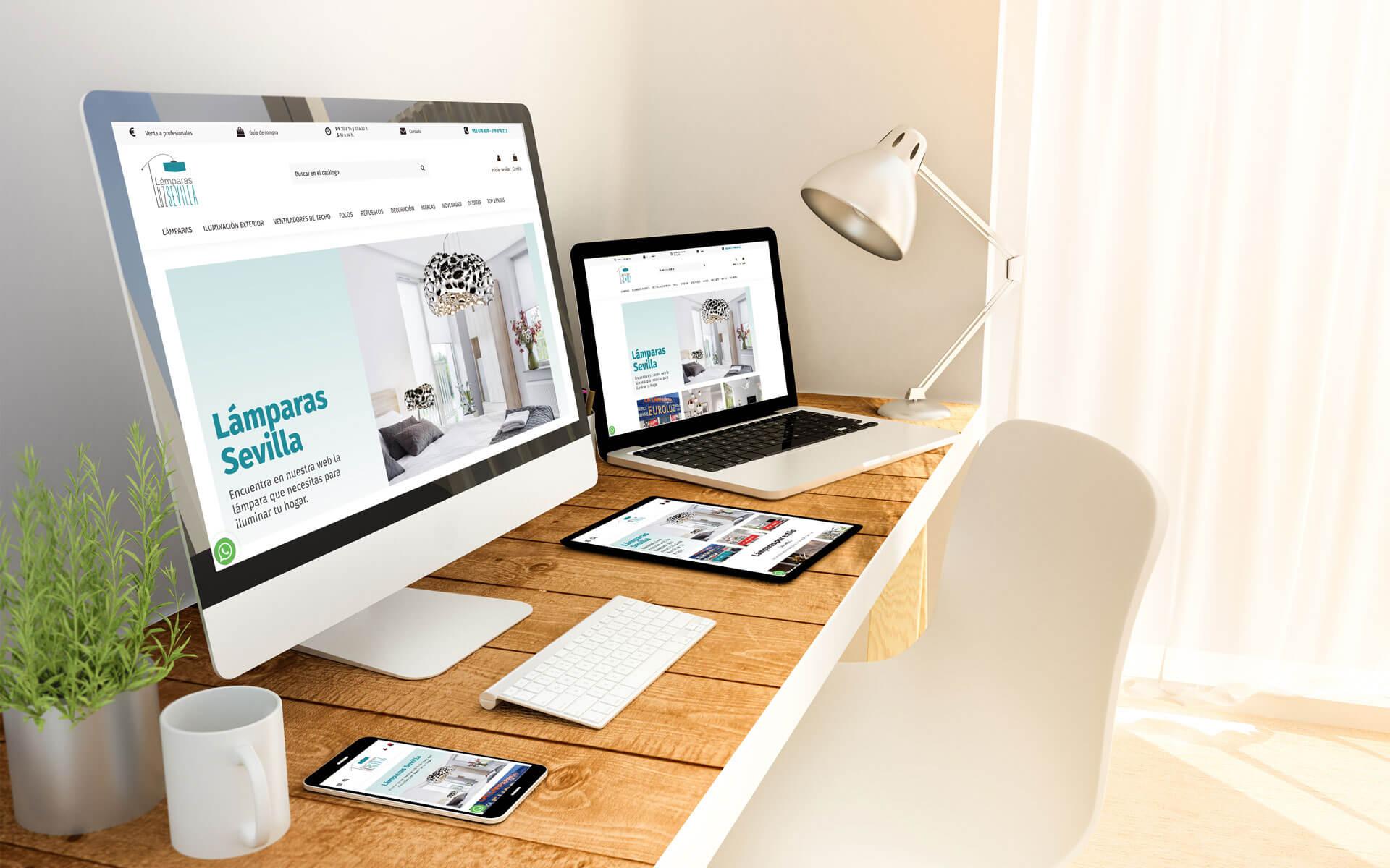 Diseño y programación de página web en prestashop para Lámparas Sevilla