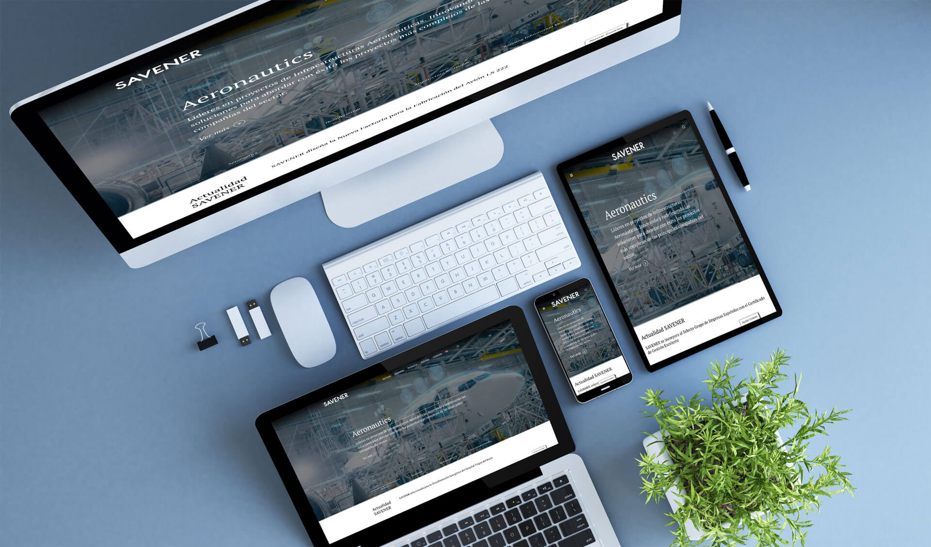 Diseño y programación de página web para SAVENER